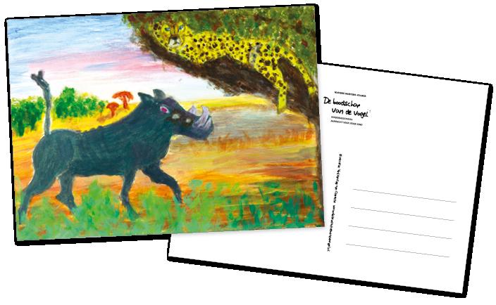De boodschap van de vogel Postkaartenset versie 1